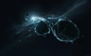 Picture space, rocks, meteorites