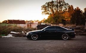 Picture profile, Nissan, black, skyline, gtr, r34, railroad