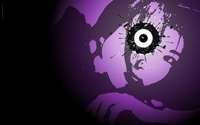 Wallpaper blot, Circles, eyes
