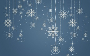 Picture snow, snowflakes, background