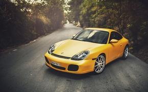 Wallpaper Wildness, Carrera, 996, Yellow, Porsche, Porsche