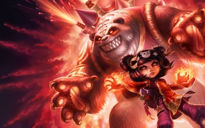 Picture Annie, panda, League of Legends, Dark Child, lol