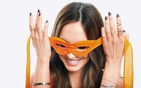 Picture Megan Fox, Megan Fox, smile, actress, mask, bracelets, celebrity, smiling