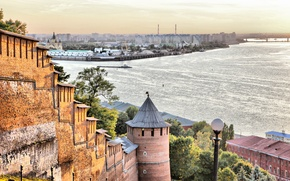 Picture river, arrow, Oka, Volga, Nizhny Novgorod
