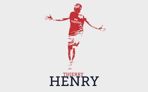 Picture background, the inscription, legend, Arsenal, Arsenal, legend, Football Club, The Gunners, Thierry Henry, Thierry Henry, …