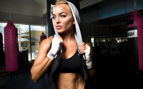 Picture blonde, workout, fitness, gym, transpiration