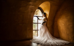 Picture style, dress, window, Asian