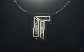 Picture game, logo, titan