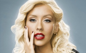 Wallpaper look, face, lipstick, blonde, lips, Christina Aguilera
