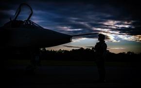Picture pilot, the airfield, Jaguar, SEPECAT, fighter-bomber