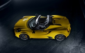Picture Yellow, Convertible, spider, Alfa Romeo, Car, 2015