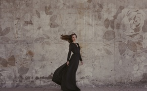 Picture look, face, style, background, hair, Girl, dress