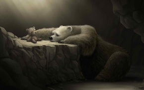 Picture sadness, loneliness, toy, Bear