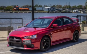 Picture Mitsubishi, Lancer, red, Evolution