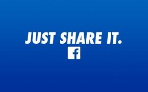 Picture logo, blue, facebook
