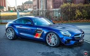Picture Mercedes-Benz, Blue, AMG, GTS, Vossen