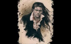 Wallpaper vampire, frame, blood