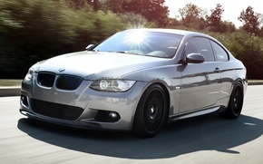 Picture road, coupe, BMW, BMW, Blik, Coupe, the front, IND, 3 Series, 3 series
