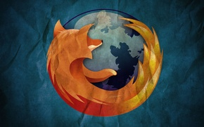 Picture background, planet, Fox, Mozilla Firefox