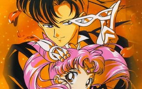 Picture petals, mask, Anime, Sailor Moon, Tuxedo Musk, Baby Baths