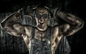 Wallpaper guy, hard worker, muscle, glasses