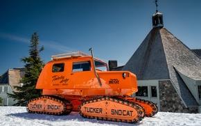 Picture winter, Oregon, Oregon, snowcat, Timberline Lodge ski area, Tucker Sno-Cat