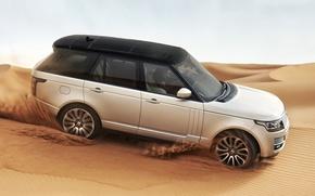 Picture sand, desert, Range Rover