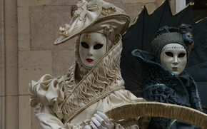 Picture Venice, carnival, mask, costumes