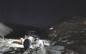 Picture car, night, the roads, night, offroad