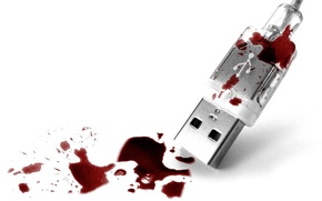 Wallpaper blood, Syrup, USB