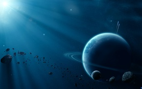 Picture space, light, planet, beautiful space