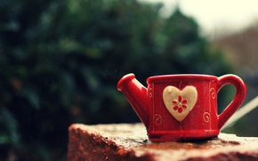 Picture heart, mug, Cup, lake, heart