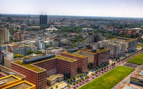 Picture the city, photo, home, Germany, horizon, top, megapolis, Berlin