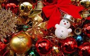Picture toys, Christmas, snowman