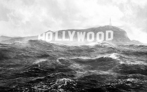 Picture flood, the flood, the end of the world, hollywood, Hollywood Sign