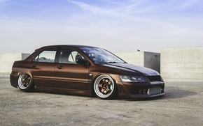Picture Mitsubishi, tuning, lancer, stance, evolution 9