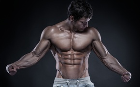 Wallpaper sexy, muscles, pose, bodybuilding