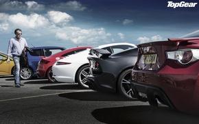 Picture the sky, Audi, Ford, 911, Porsche, Lotus, Jeremy Clarkson, Top Gear, Suzuki, Toyota, Focus, Swift, …