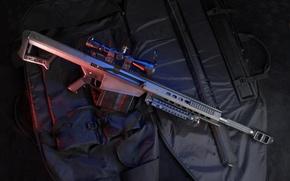 Wallpaper M82, Sniper, Rifle, Bag, Case, Self-loading, Heavy, Barrett, Sight, Barrett