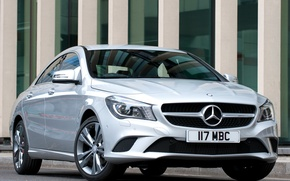 Picture Mercedes-Benz, silver, front view, Mercedes, CLA 180
