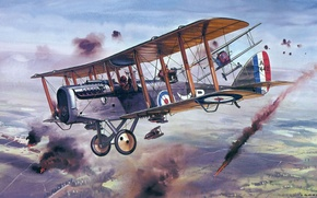 Picture aircraft, war, airplane, aviation, dogfight, ww1