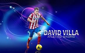 Picture sport, football, Spain, David Villa, player, Atletico Madrid