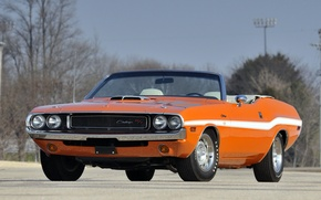 Picture retro, convertible, muscle car, Dodge, classic, dodge, challenger, muscle car, 1970