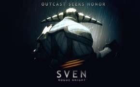 Picture hero, Dota 2, rogue knight, sven