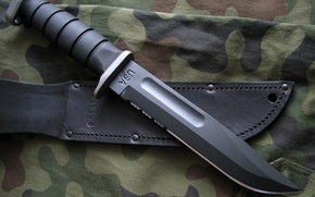 Wallpaper edged weapons, knife, military, case