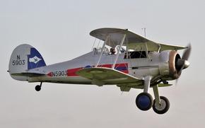 Picture the sky, British, fighter biplane, Gladiator II