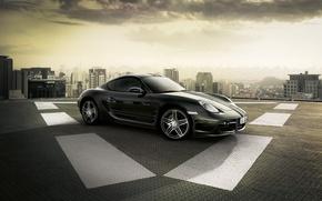 Wallpaper Porsche, The site, The city