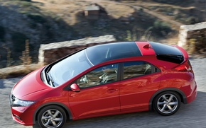 Picture red, Road, Japan, Speed, Wallpaper, Honda, Japan, Red, Honda, Car, Auto, Wallpapers, Road, Civic, Civic, ...