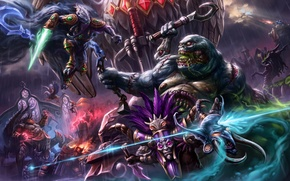 Picture Heroes of the Storm, Wandering Barbarian, blizzard, Falstad, Dark Prelate, diablo, Zagara, Warcraft, Broodmother of …
