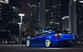 Picture Auto, Lights, Night, The city, Tuning, Machine, Honda, Accord, Drives, Suspension